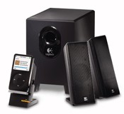 logitech x240 2:1 speaker system with subwoofer imags